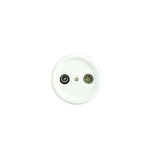 Antica ceramiczne natynkowe gniazdo TV+R białe, T06/TV+R biały