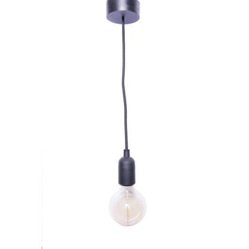 LAMPA WISZĄCA SILIKONOWA CZARNA E27