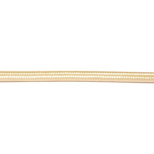 Kabel w oplocie okrągły złoty 3x0,75