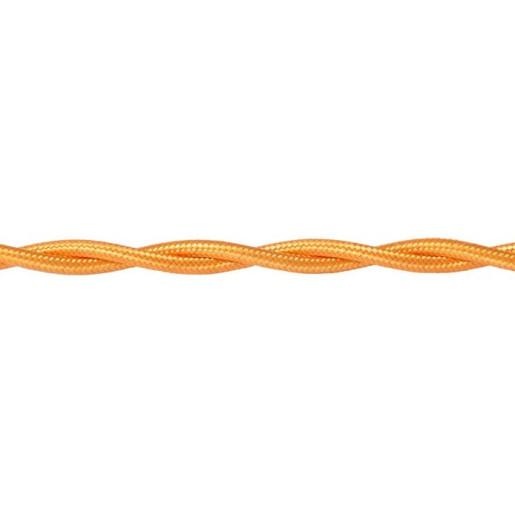 Kabel w oplocie skręcanym złoty 2x0,75mm