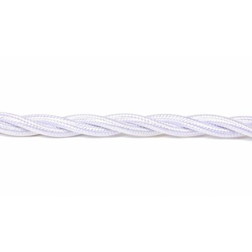 Kabel w oplocie skręcanym biały 3x2,5