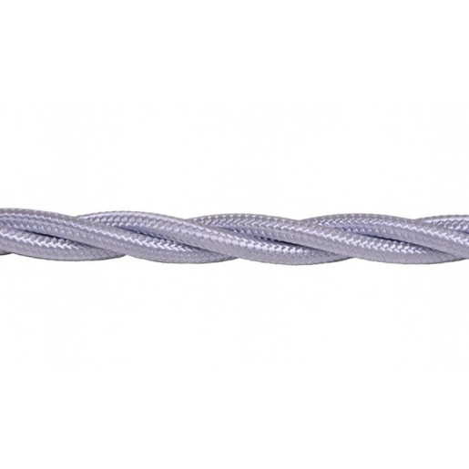 Kabel w oplocie skręcanym szary 2x0,75mm