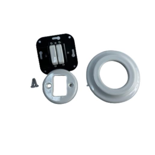 ANTICA NEW podwójny-schodowy włącznik biały podtynkowy K1- R220Q WHITE