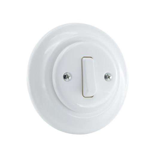 ANTICA NEW pojedynczy włącznik biały podtynkowy K1- R110Q WHITE