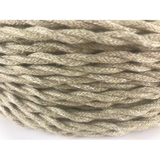 Kabel w oplocie skręcanym naturalny 3x,2,5mm