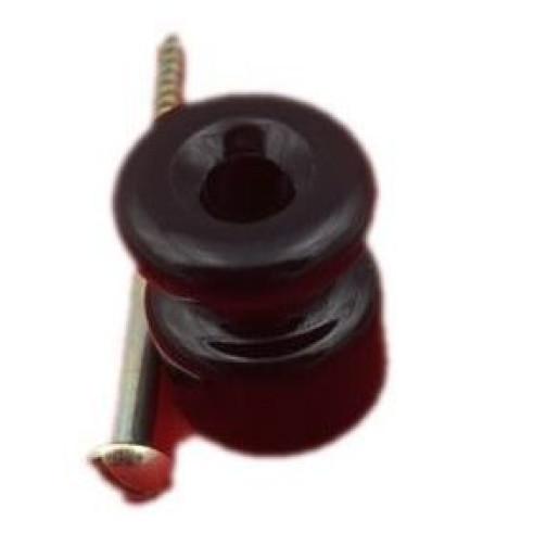 Izolator czarny do mocowania kabli w oplocie ANTICA, TW06 czarny