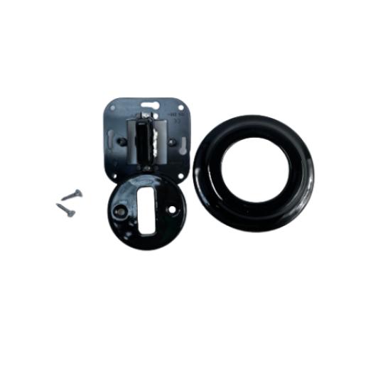 ANTICA NEW pojedynczy włącznik czarny podtynkowy K1- R110Q BLACK