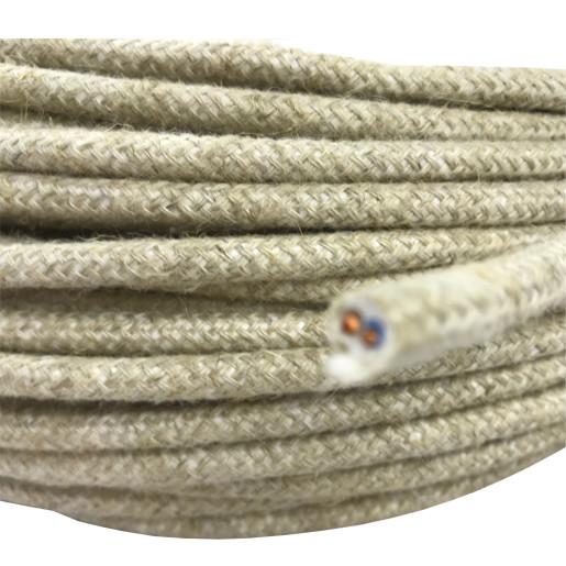Kabel w oplocie okrągły 2x0,75 natura H03VV-F