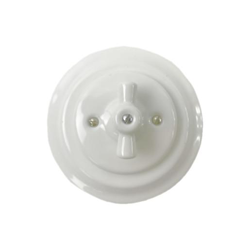 Podtynkowy włącznik świecznikowy światła retro ANTICA BIAŁA, TT-01B biały