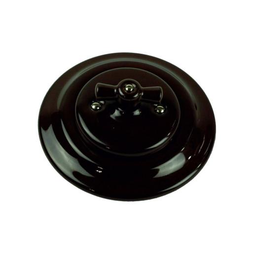 Podtynkowy włącznik światła retro ANTICA CZARNA