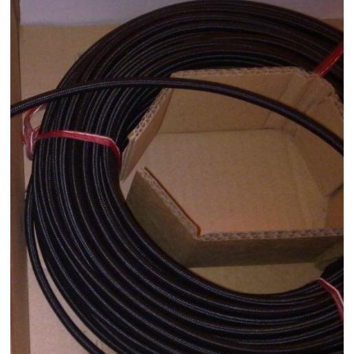 Kabel w oplocie okrągły czarny 2x0,75