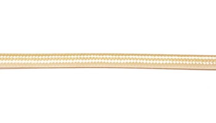 Kabel w oplocie okrągły złoty 2x0,75