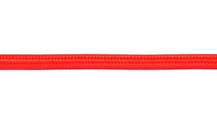 Kabel w oplocie okrągły czerwony 2x0,75