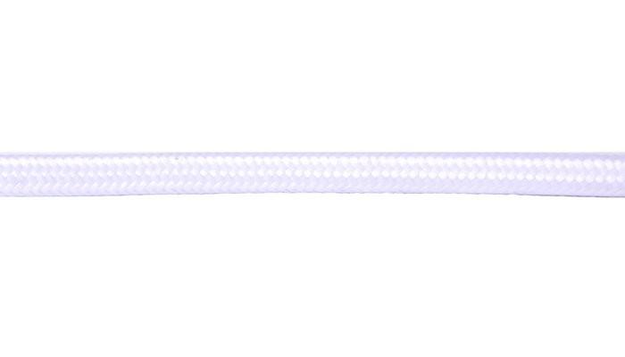 Kabel w oplocie okragły biały 2x0,75