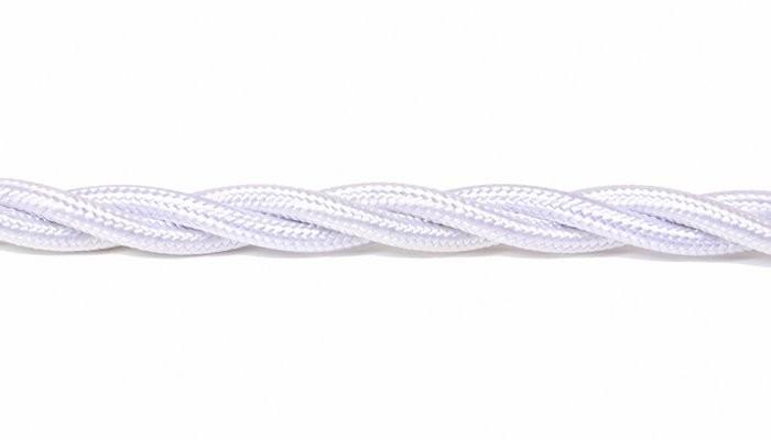 Kabel w oplocie skręcanym biały 3x1,5