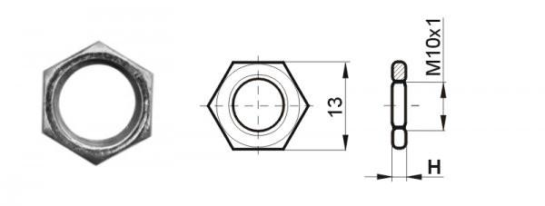 Nakrętka sześciokątna 13X3 Cynk