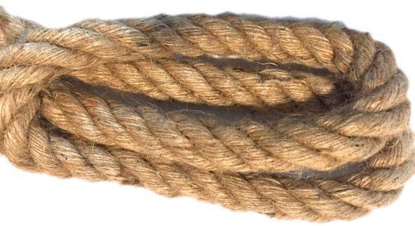 Kabel w oplocie skręcanym 2x0,75  lina konopna 30mm