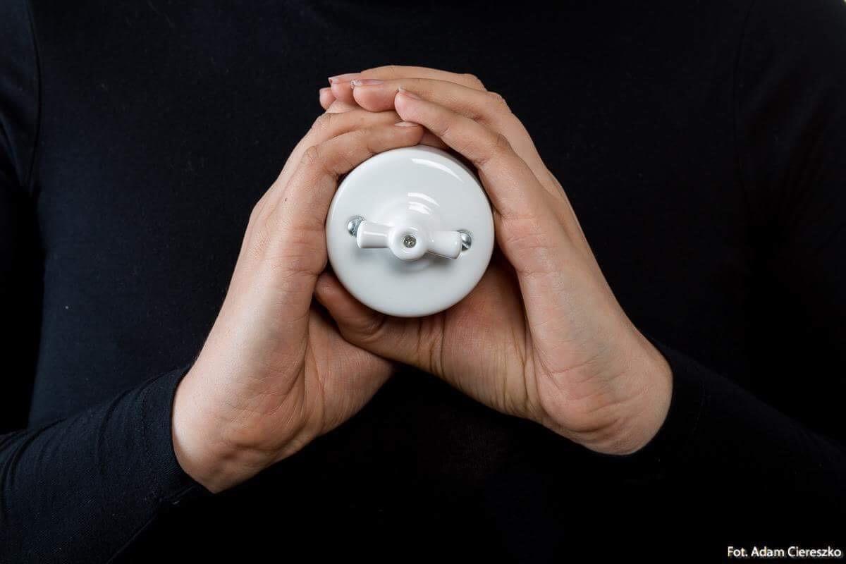 Włącznik światła retro ANTICA dwubiegunowy
