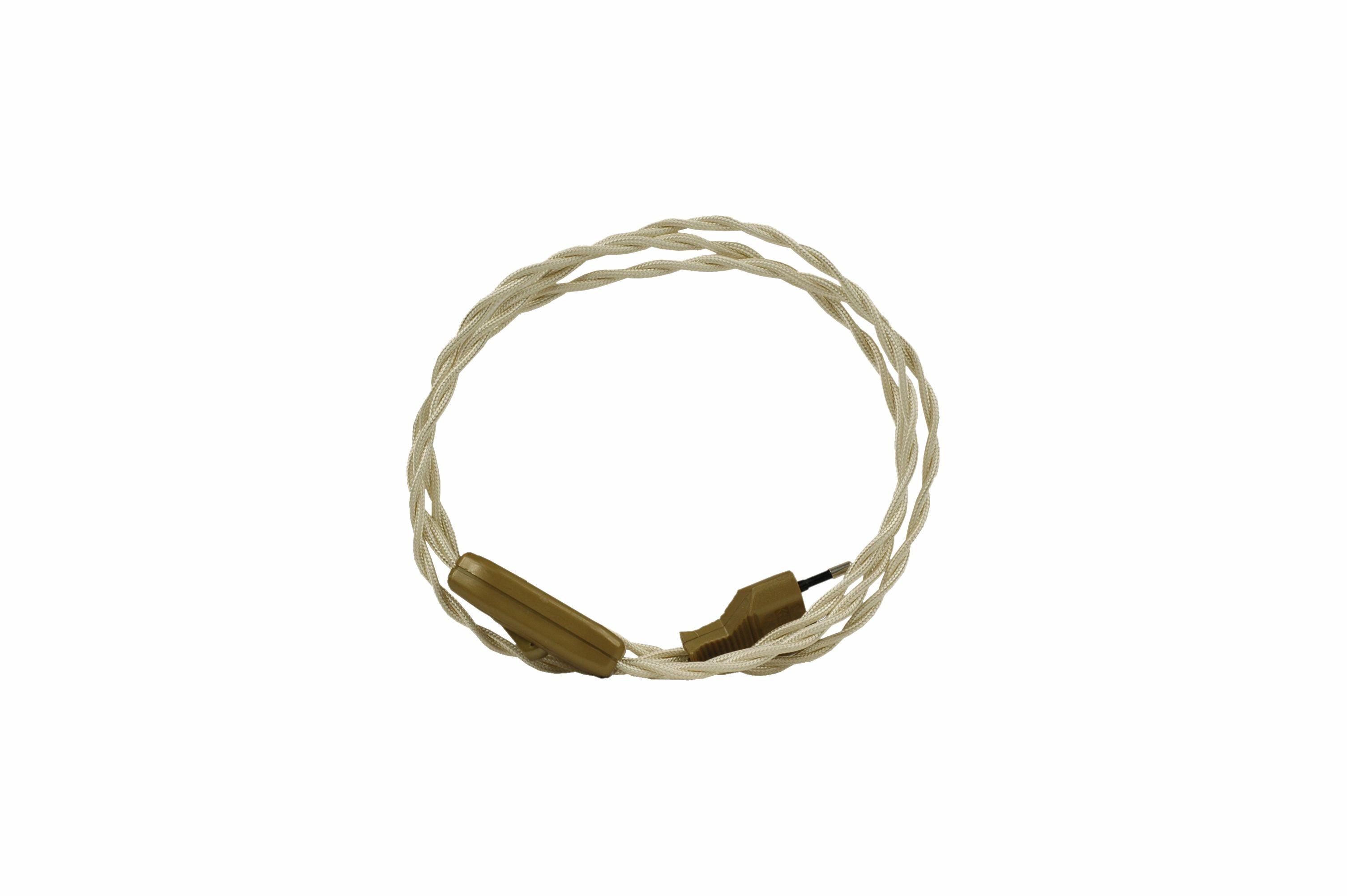 Kabel przyłączeniowy w oplocie skręcanym z wyłącznikiem KOŚĆ SŁONIOWA