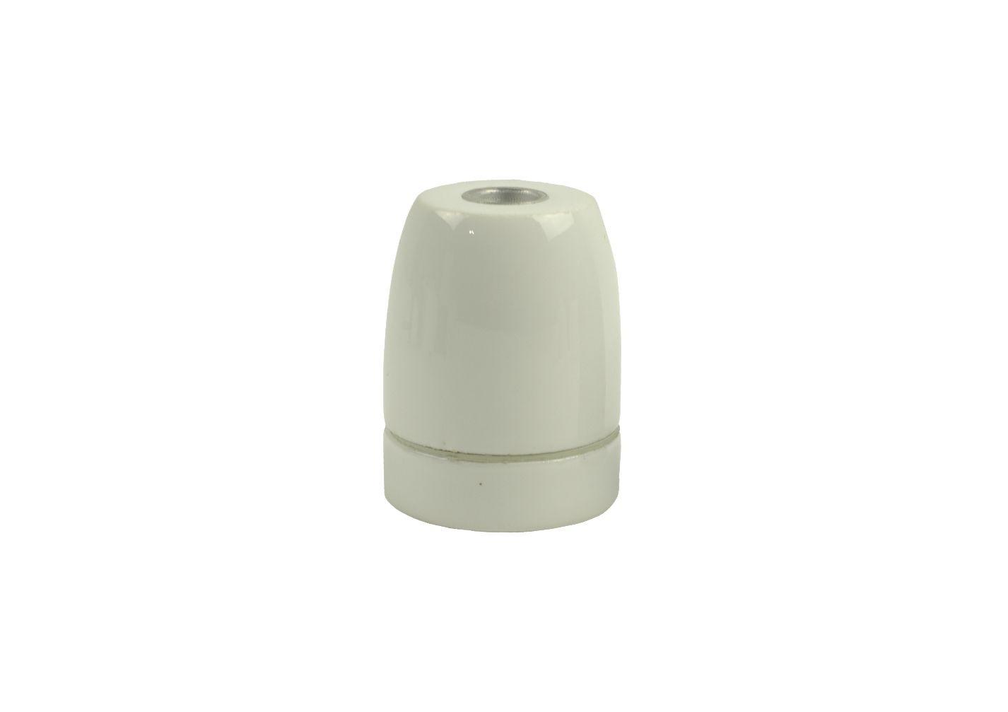 Oprawka porcelanowa E-27 biała z połyskiem