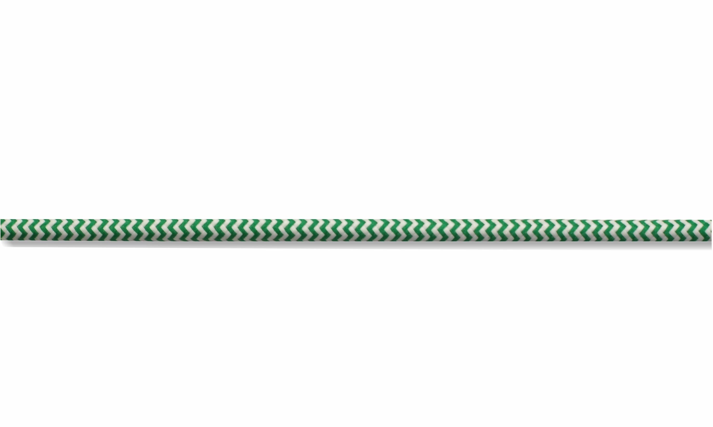 Kabel w oplocie okrągły biało-zielony 2x0,75