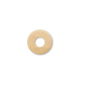 Drewniana podstawa okrągła z frezem, surowy, GiGambarelli,01126
