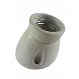 Kinkiet Oprawka ceramiczna BIAŁA E27 KINKIET skos