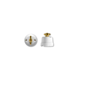 Porcelanowy włącznik natynkowy obrotowy modern, mosiądz, GiGambarelli, 00701