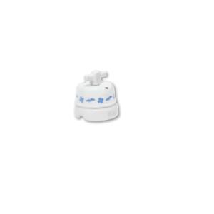 Porcelanowy włącznik natynkowy obrotowy pojedynczy/podwójny old england, biały, GiGambarelli, EN00410
