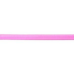 Kabel w oplocie okrągły różowy 2x0,75