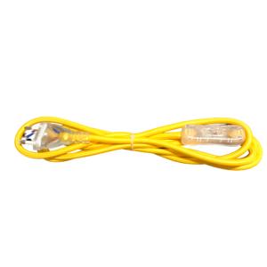 Kabel przyłączeniowy w oplocieokrągły żółty z wyłącznikiem