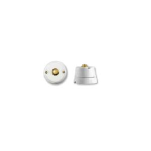 Porcelanowy włącznik natynkowy dzwonkowy mosiądz , GiGambarelli, 00130