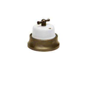 Porcelanowy włącznik natynkowy obrotowy pojedyncz FUSION GiGambarelli, 31.100.14