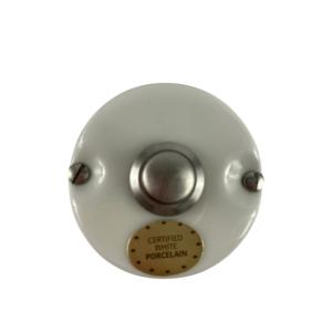 Porcelanowy włącznik dzwonkowy, chrom GI_GAMBARELLI, WHITE ITALY