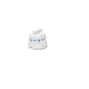 Porcelanowy włącznik natynkowy obrotowy pojedynczy/podwójny old england, biały, GiGambarelli, EN00310