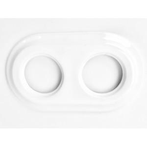 Ceramiczna Ramka Podwójna Podtynkowa Biała