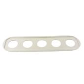 Ramka pięciokrotna do włącznika  światła ANTICA retro biała 5