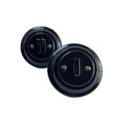 ANTICA NEW podwójny włącznik czarny podtynkowy K1- R210Q BLACK