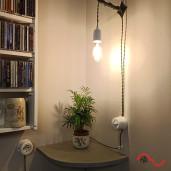 Włącznik światła retro pojedynczy CZARNY