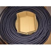 Kabel w oplocie okrągły grafit 2x0,75
