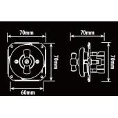 Podtynkowy włącznik krzyżowy światła retro ANTICA czarny, TT-01C czarny
