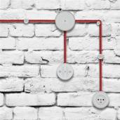 Izolator biały prosty do mocowania kabli w oplocie ANTICA