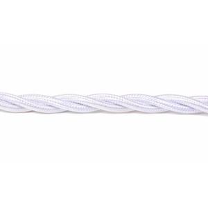 Kabel w oplocie skręcanym biały 2x0,5