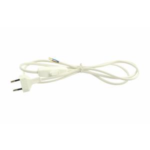 Kabel przyłączeniowy biały z wyłącznikiem